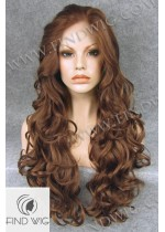Lace Front Wig Wavy Chestnut Long Wig. New Style Wig