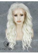 Platinum Blonde Long Wig. Lace Front Platinum Blonde Wig. On Line Wig Store