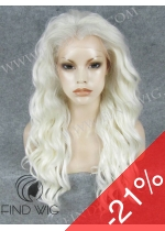 Platinum Blonde Long Wig. Lace Front Platinum Blonde Wig. On Line Wig Store