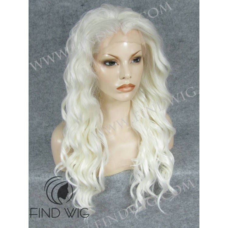 Platinum Blonde Long Wig Lace Front Platinum Blonde Wig
