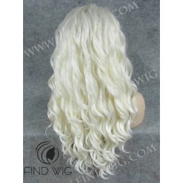Lace Front Wig. Platinum Blonde Long Wig