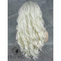 Platinum Blonde Long Wig. Lace Front Platinum Blonde Wig