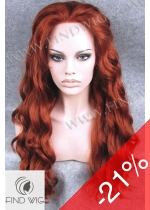 Lace Front Wig Wavy Red Long Hair. New Style Wig