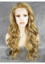 Lace Front Wig Wavy Blonde Gold Long Hair. On Line Wig Store