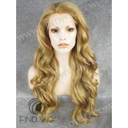 Kanekalon Wig. Wavy Blonde Gold Long Wig