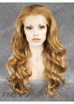 Lace Front Wig Wavy Blonde Gold Long Hair. New Style Wig