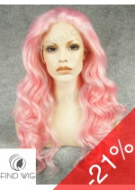 Synthetic lace front wig Wavy pink long hair. New Style Wig