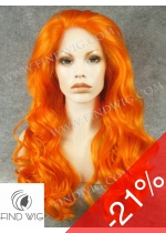 Lace Front Wig Wavy Orange Long Wig. New Style Wig