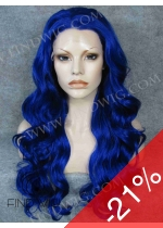 New Style Wig. Wavy Blue Long Hair. Wigs Store On Line