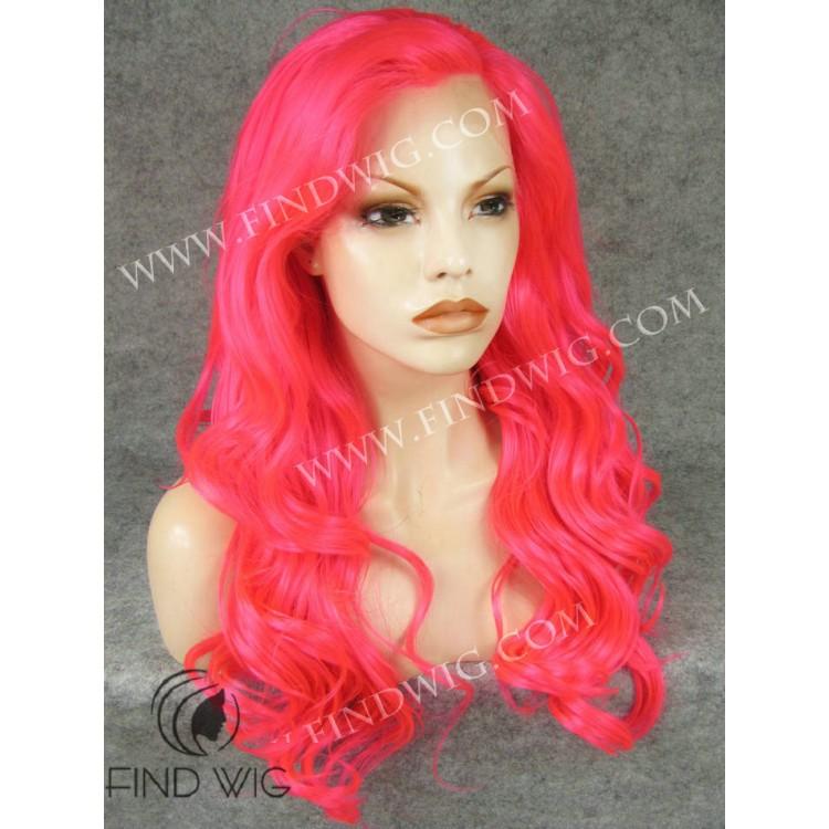 Wavy Long Fuchsia Wig. Costume Wig  sc 1 st  Wig Store FindWIG & Wavy Long Fuchsia Wig. Drag u0026 Costume Wigs Online