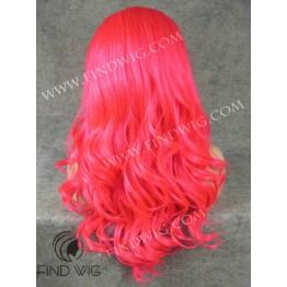 Drag Wig. Wavy Long Fuchsia Wig