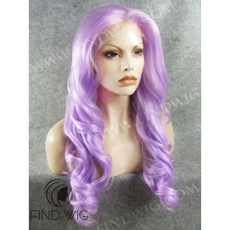 Drag Lace Front Wig Wavy Lavender Long Wig Wigs Online