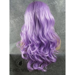 Drag Lace Front Wig. Wavy Lavender Long Wig