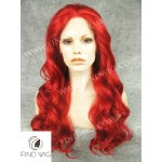 Drag Lace Front Wig Wavy Red Long Hair