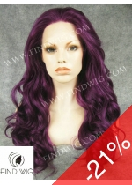 Drag Lace Front Wig Wavy Lilac Long Wig. New Style Wig