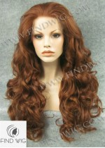 Lace Front Wig Curly Chestnut Long Wig. New Style Wig