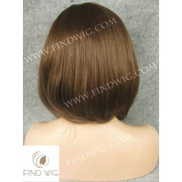 Skin Top Wig. Straight chestnut medium-long wig