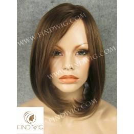 Skin Top Wig. Straight chestnut medium-long wig