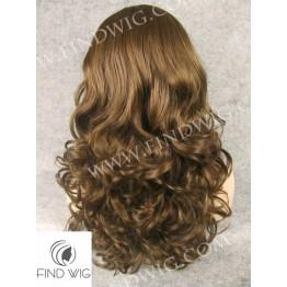 Skin Top Wig. Wavy Brown Medium - Long Wig