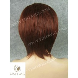 Skin Top Wig. Straight Red Short Wig