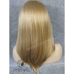 Monofilament Wig. Straight blonde medium-long wig