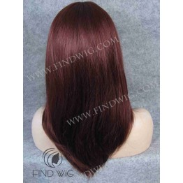 Monofilament Wig. Straight red ginger medium long wig