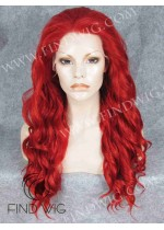 Drag Lace Front Wig Wavy Red Long Wig. Wigs On Line