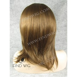 Straight Ginger / Brown Medium Long Wig
