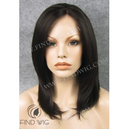 Lace Front Wig. Straight Chestnut Medium Long Wig
