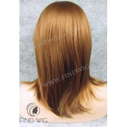 Lace Front Wig. Straight Red Ginger Medium Long Wig