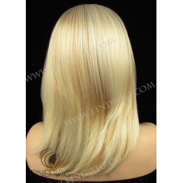 Straight Highlighted Blonde Medium Long Wig