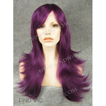 Straight Lilac Long Halloween & Party Wig