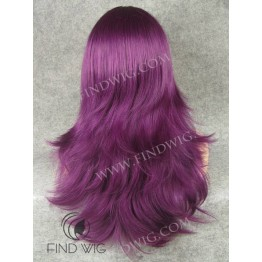 Straight Lilac Long Halloween - Party Wig
