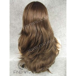 Straight Chestnut Long Wig With Bang. Lace Front Wig