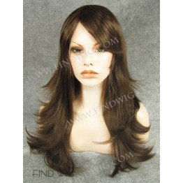 Straight Chestnut Long Wig With Bang. New Style Wig