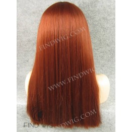 Kanekalon Wig. Straight Red Long Lace Front Wig