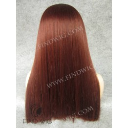 Kanekalon Wigs. Straight Red Ginger Long Wig With Bang