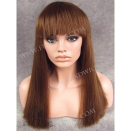 Lace Front Wig. Straight Chestnut / Red Long Wig