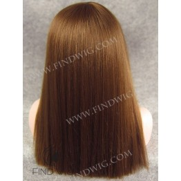 Lace Front Wig. Straight Chestnut Red Long Wig