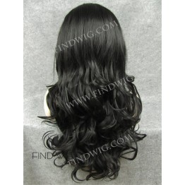 Wavy Dark Chestnut Long Wig With Lace Front
