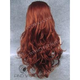 Kanekalon Wavy Red / Ginger Long Lace Front Wig