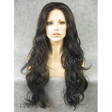 Lace Wig. Wavy Chestnut Long Wig