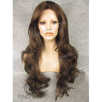 Wavy Long Chestnut Lace Front Wig
