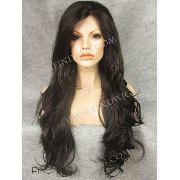 Kanekalon Wig. Wavy Chestnut Long Wig. Online Wigs Store