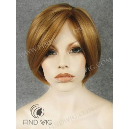 Lace Front Wig. Straight Ginger Red Short Hair