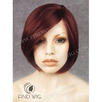 Kanekalon Wig. Straight Red Ginger Short Wig