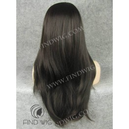 Skin Top Wig. Straight Chestnut Long Lace Front Wig