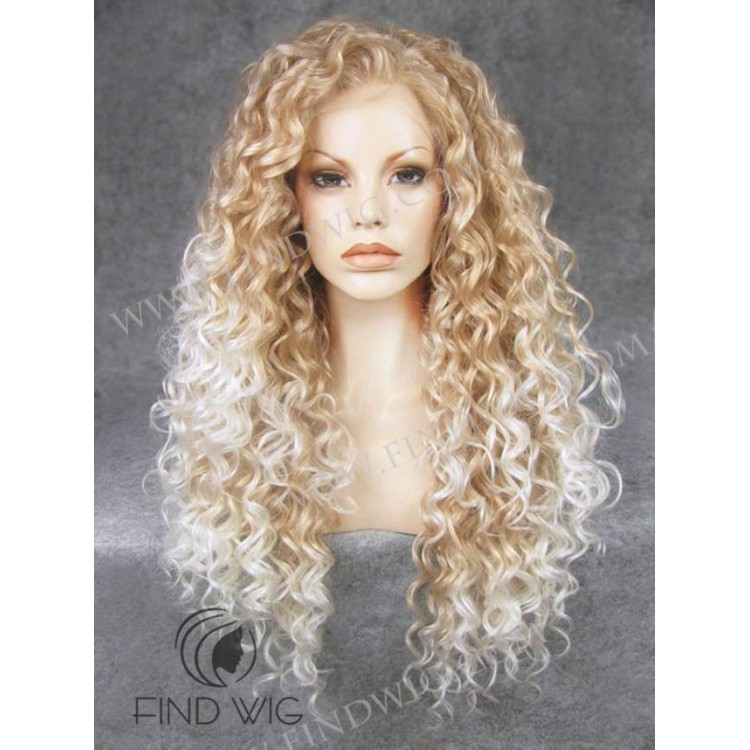 Curly Blonde Highlighted Long Wig. Buy Wigs Online ee1121f3e
