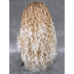 Kanekalon Wig. Curly Blonde Highlighted Long Wig