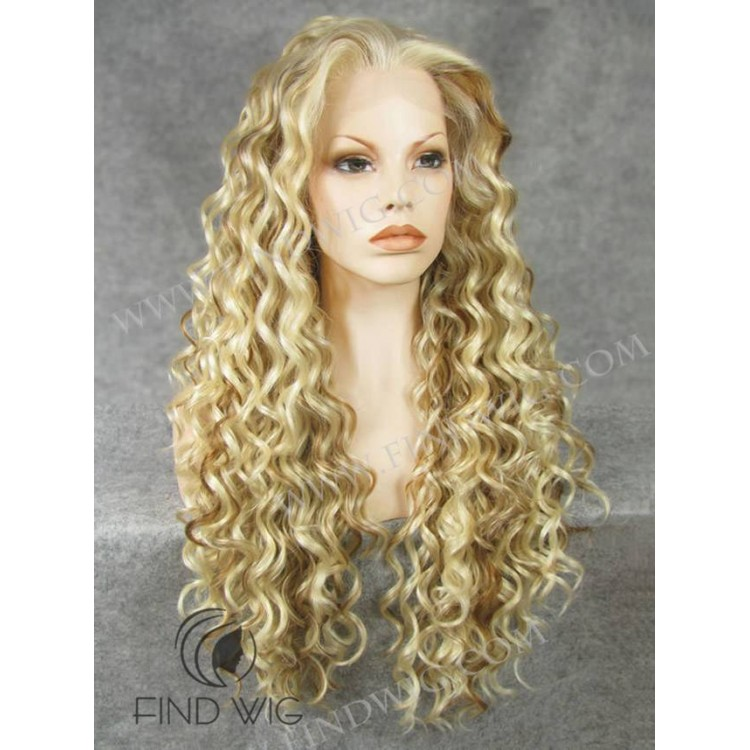 wig curly blonde natural wigs